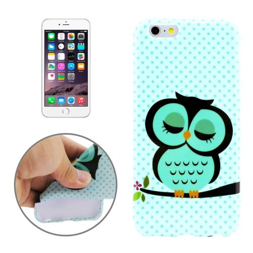 3D Printing Colorful Design Soft TPU Case for iPhone 6 4.7 (Sleeping Owl)
