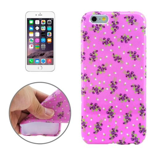 3D Printing Colorful Design Soft TPU Case for iPhone 6 4.7 (Purple Star Flowers)