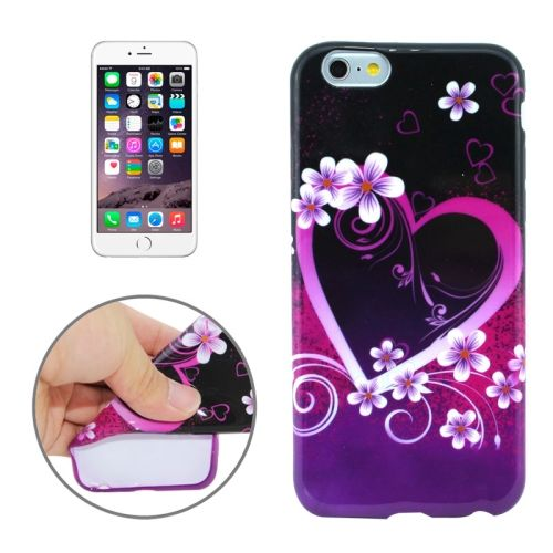 3D Printing Colorful Design Soft TPU Case for iPhone 6 4.7 (Wedding Design)