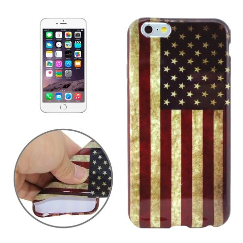 3D Printing Colorful Design Soft TPU Case for iPhone 6 4.7 (American Flag)