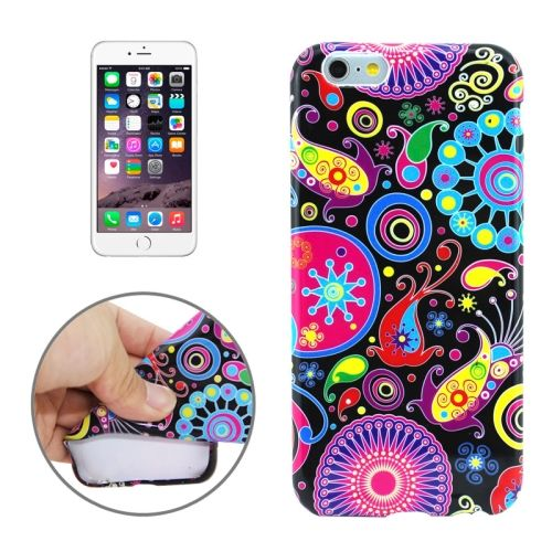3D Printing Colorful Design Soft TPU Case for iPhone 6 4.7 (Cartoon Colourful)