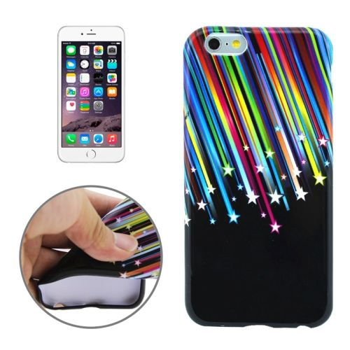 3D Printing Colorful Design Soft TPU Case for iPhone 6 4.7 (Color Strip Stars)