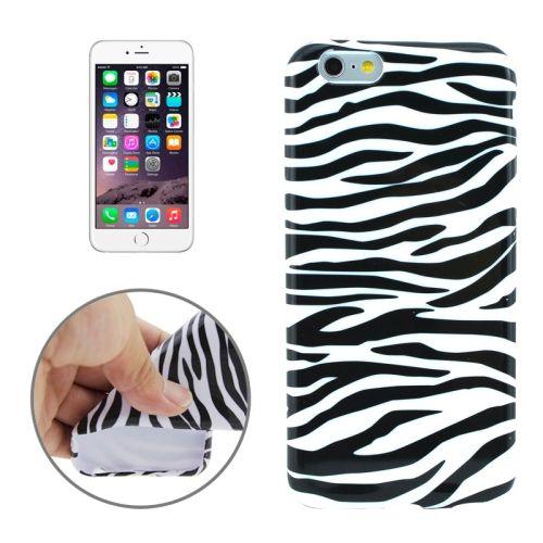 3D Printing Colorful Design Soft TPU Case for iPhone 6 4.7 (Zebra Line)
