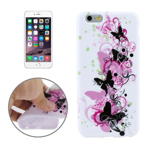 3D Printing Colorful Design Soft TPU Case for iPhone 6 4.7 (Butterfly Pattern)