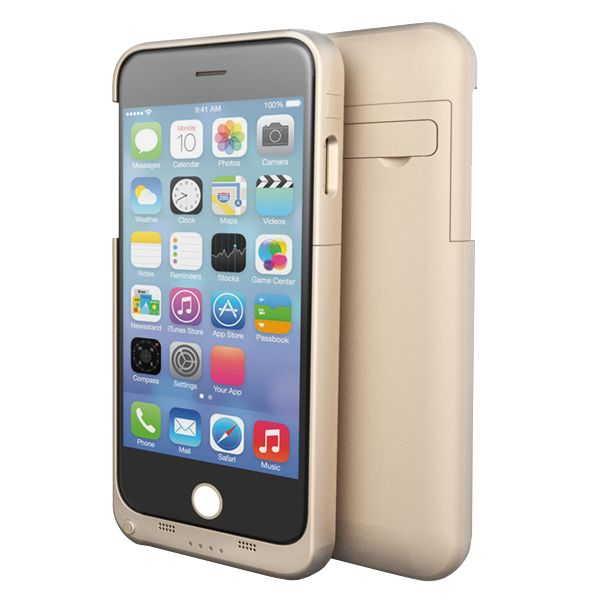 3200mAh External Power Bank Charger Pack Backup Battery Case for iPhone 6 4.7 (Gold)