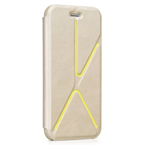 HOCO Acme Series Fashionable Leather Case for iPhone 6 4.7 Inch with Holder (Beige)