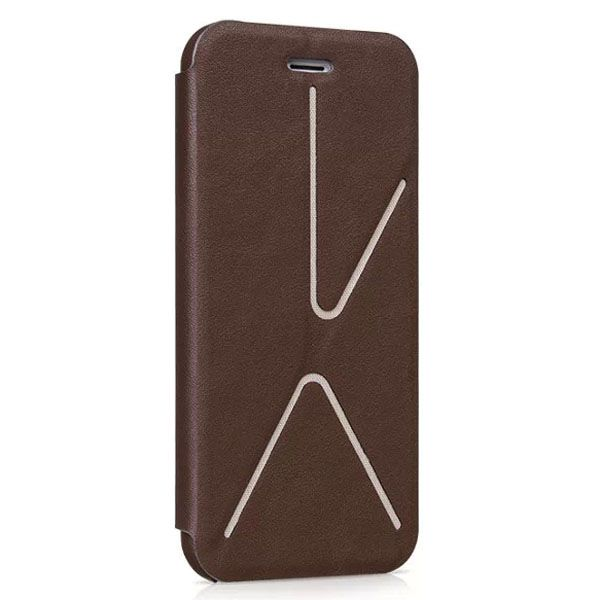 HOCO Acme Series Fashionable Leather Case for iPhone 6 4.7 Inch with Holder (Brown)