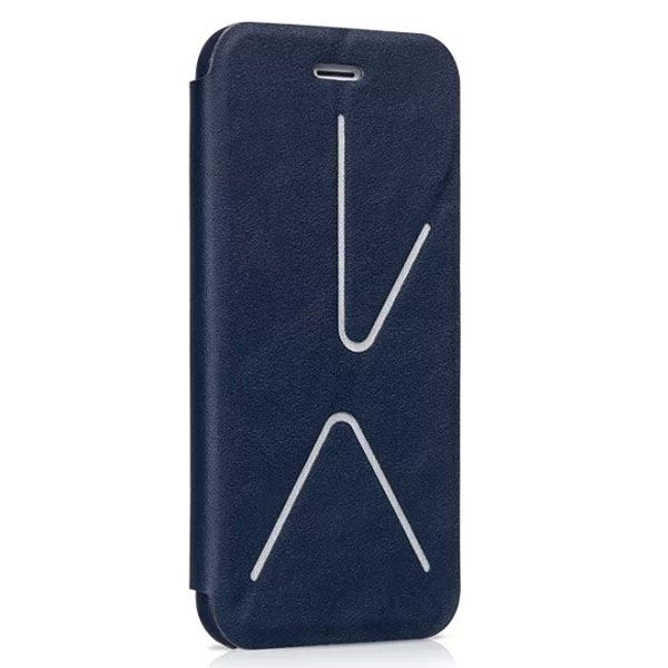 HOCO Acme Series Fashionable Leather Case for iPhone 6 4.7 Inch with Holder (Blue)