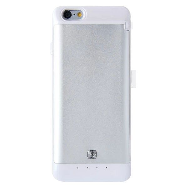 3200mAh Power Bank Charger Pack External Backup Battery Case for iPhone 6 4.7 (White)
