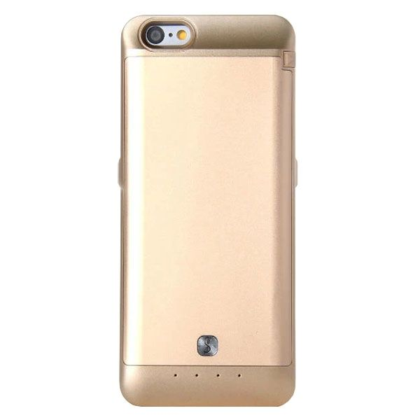 3200mAh Power Bank Charger Pack External Backup Battery Case for iPhone 6 4.7 (Gold)