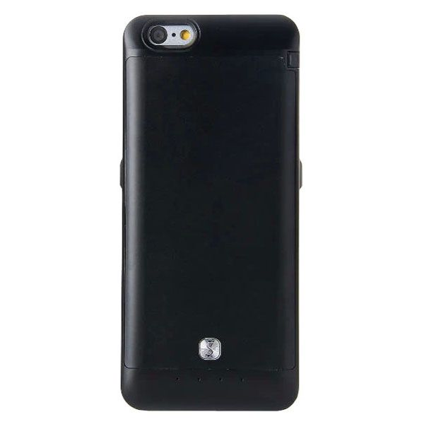 3200mAh Power Bank Charger Pack External Backup Battery Case for iPhone 6 4.7 (Black)