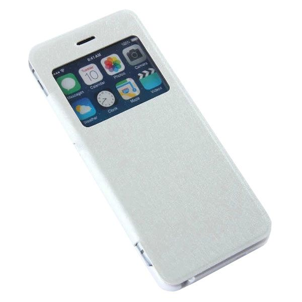 3200mAh Power Pack External PU Leather Flip Backup Battery Case for iPhone 6 4.7 (White)