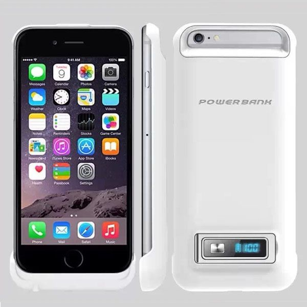 3200mAh Power Bank Charging Backup External Battery Case for iPhone 6 4.7 (White)