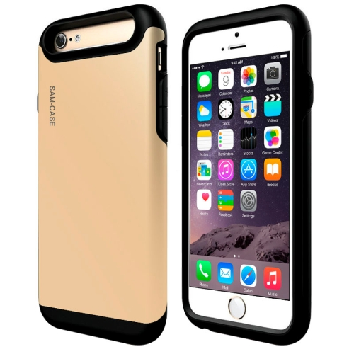 Protective Hybrid PC + TPU Combinaton Case for iPhone 6 (Gold)