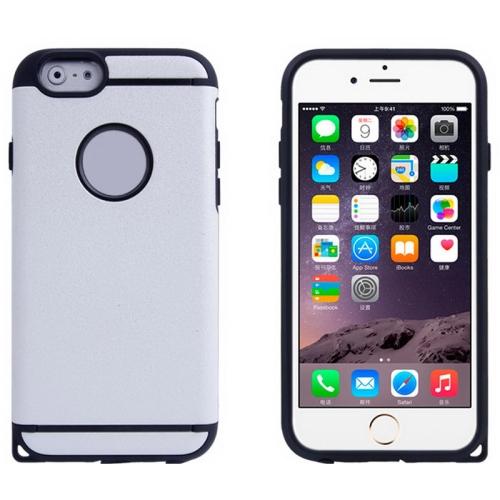 Plastic + TPU Hybrid Combination Case for iPhone 6 Plus (White)