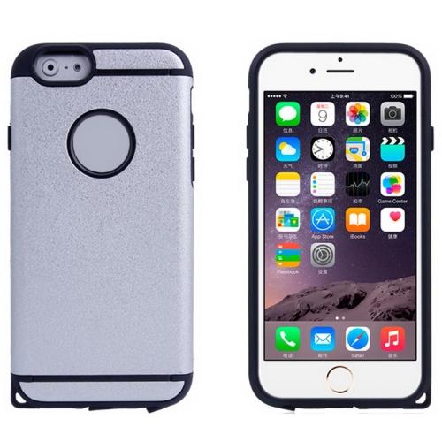 Plastic + TPU Hybrid Combination Case for iPhone 6 Plus (Milk)