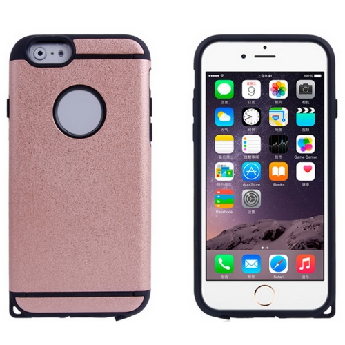 Plastic + TPU Hybrid Combination Case for iPhone 6 Plus (Pink)
