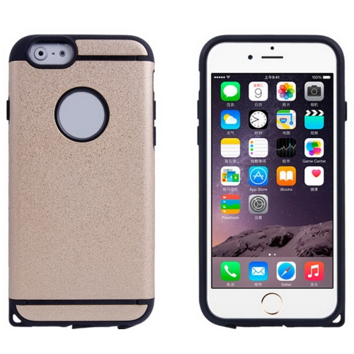 Plastic + TPU Hybrid Combination Case for iPhone 6 Plus (Beige)