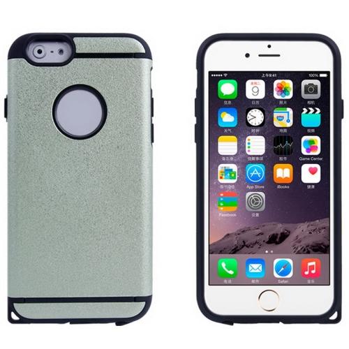 Plastic + TPU Hybrid Combination Case for iPhone 6 Plus (Light Green)