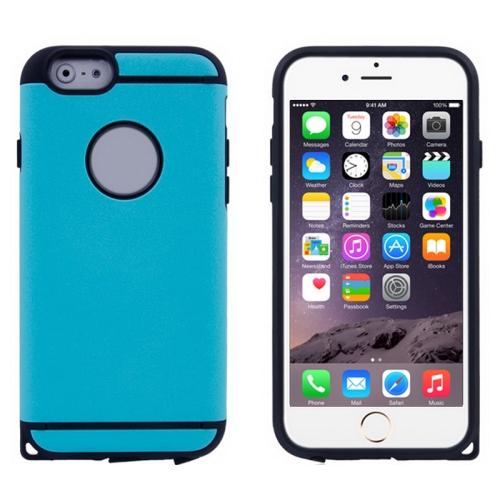 Plastic + TPU Hybrid Combination Case for iPhone 6 Plus (Blue)