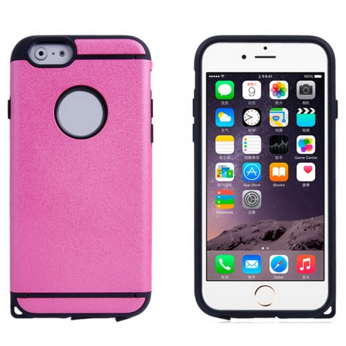 Plastic + TPU Hybrid Combination Case for iPhone 6 Plus (Rose)