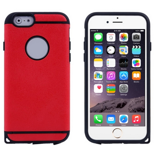 Plastic + TPU Hybrid Combination Case for iPhone 6 Plus (Red)