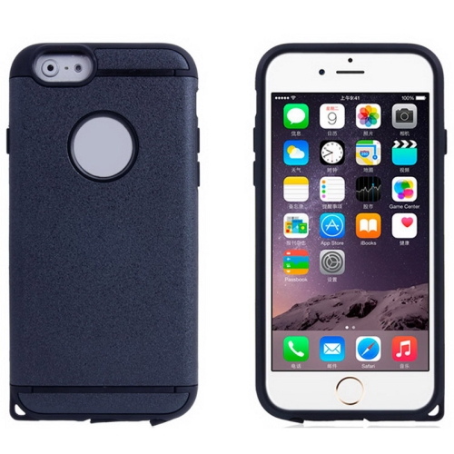 Plastic + TPU Hybrid Combination Case for iPhone 6 Plus (Black)