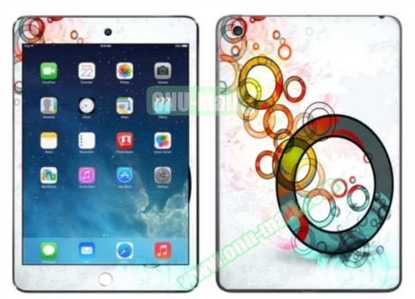 Color Circle Pattern Decal Stickers for iPad Air 2/iPad 6