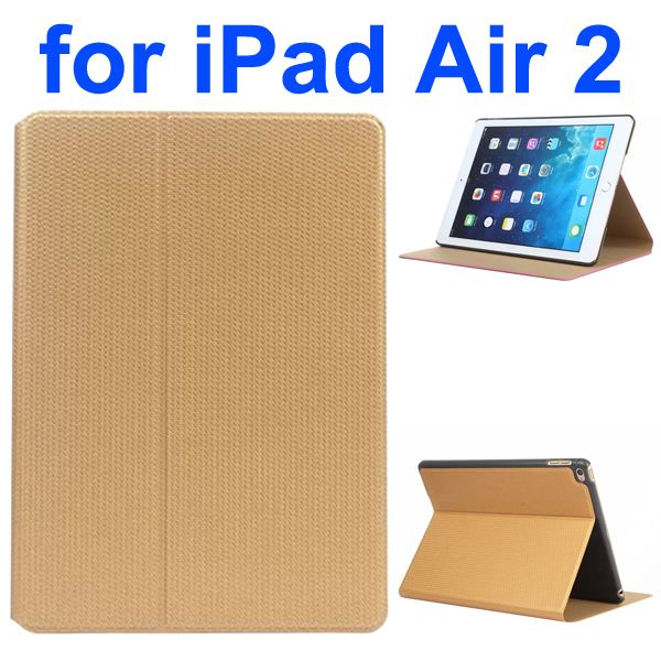 Basketball Texture Flip Leather + PC Case for iPad Air 2 with Holder (Brown)