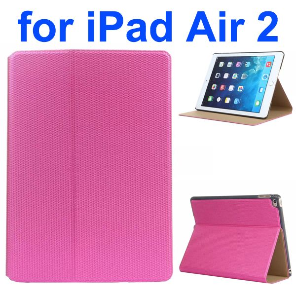 Basketball Texture Flip Leather + PC Case for iPad Air 2 with Holder (Rose)