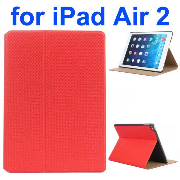 Basketball Texture Flip Leather + PC Case for iPad Air 2 with Holder (Red)
