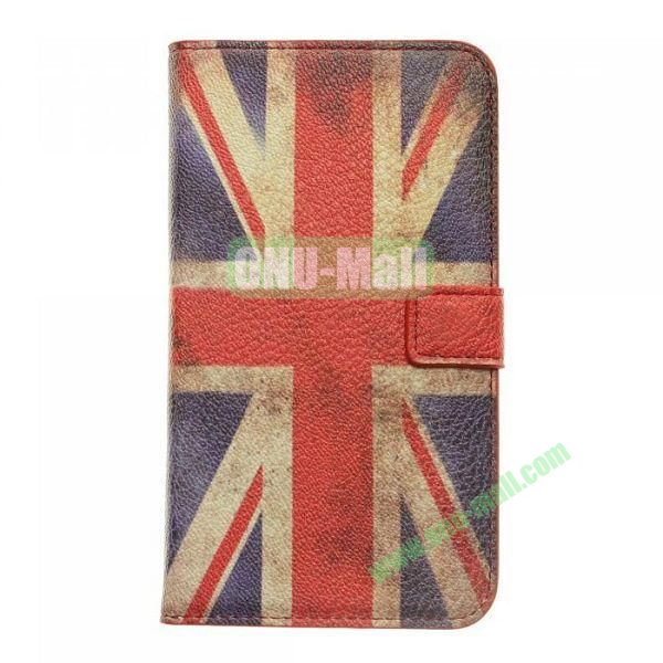 The Union Jack Flag Pattern Leather Case with Card Slots And Magnetic Flip Stand Cover For Samsung N7100 Galaxy Note 2