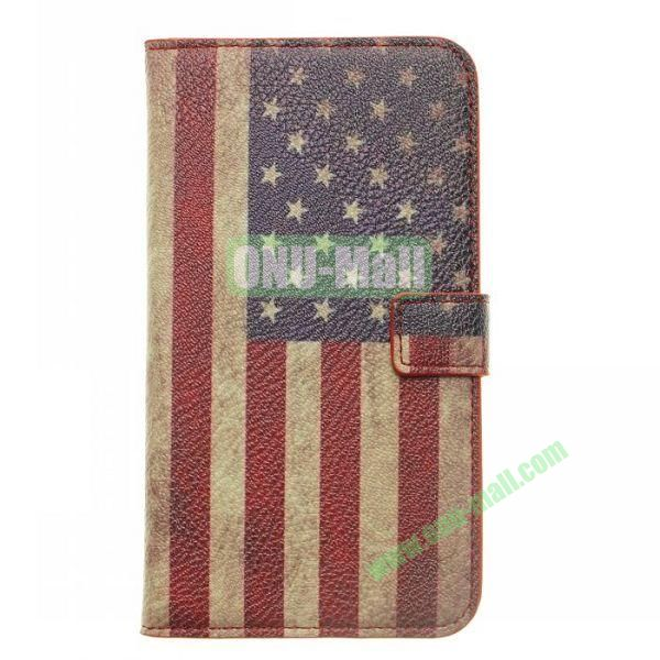 American Flag Pattern Leather Case with Card Slots And Magnetic Flip Stand Cover For Samsung N7100 Galaxy Note 2