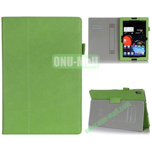 High Quality Flip Stand Leather Case for Lenovo A10-70 with Card Slots and Armband Belt (Green)