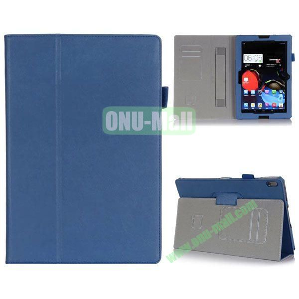 High Quality Flip Stand Leather Case for Lenovo A10-70 with Card Slots and Armband Belt (Blue)