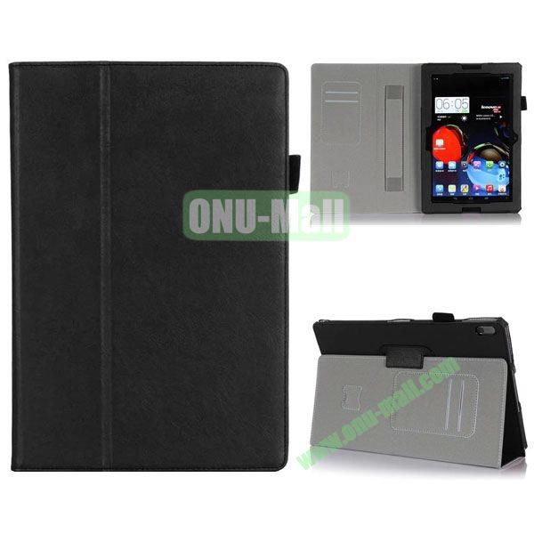 High Quality Flip Stand Leather Case for Lenovo A10-70 with Card Slots and Armband Belt (Black)