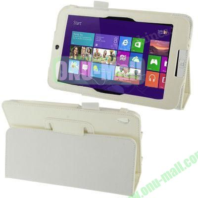 Crazy Horse Texture Horizontal Flip Leather Case for Acer Iconia W3-810 with Holder (White)