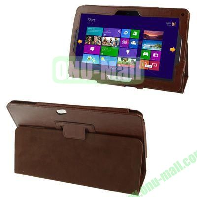 Crazy Horse Texture Leather Case for Acer Iconia W510 with Holder (Brown)
