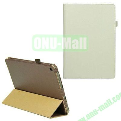 3-folding Litchi Texture Leather Case with Holder for Acer Iconia A3 (White)