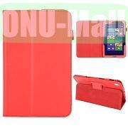 Lichee Pattern Leather Case for Acer Iconia W4 820 (Red)