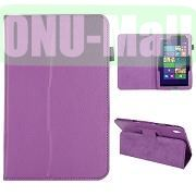 Lichee Pattern Leather Case for Acer Iconia W4 820 (Purple)