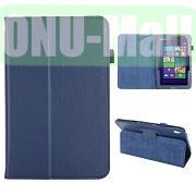 Lichee Pattern Leather Case for Acer Iconia W4 820 (Blue)
