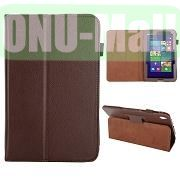 Lichee Pattern Leather Case for Acer Iconia W4 820 (Brown)