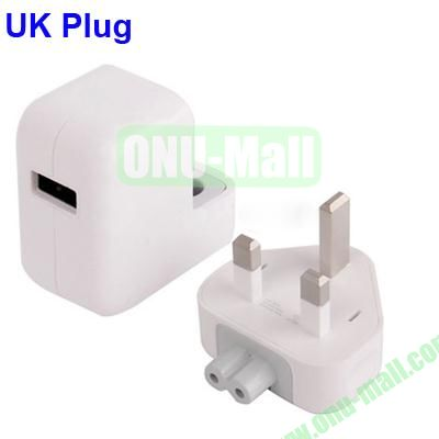 2.1A 5V USB Travel Charger UK Power Adapter for iPhoneiPadSamsungSonyNokia With Built-in LED Indicator