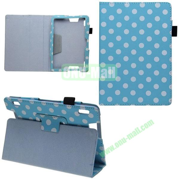Wave Point Pattern Leather Case for Amazon Kindle HDX7 (Blue)
