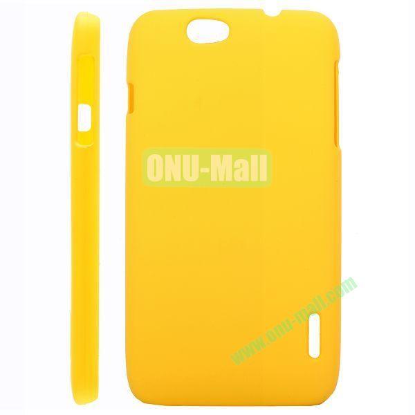 Ultraslim Oil Coated Hard PC Case For Alcatel OT986 (Yellow)