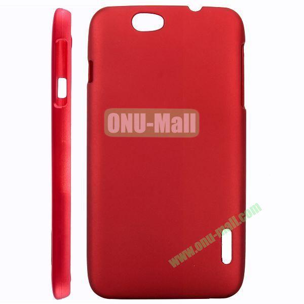 Ultraslim Oil Coated Hard PC Case For Alcatel OT986 (Red)