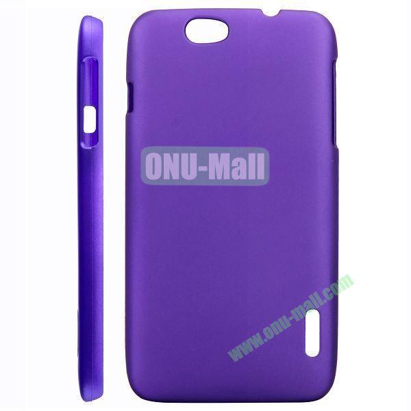 Ultraslim Oil Coated Hard PC Case For Alcatel OT986 (Purple)