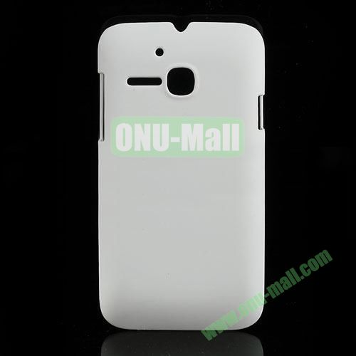 Ultrathin Oil Coated PC Case for Alcatel One Touch MPOP OT5020D 5020 (White)