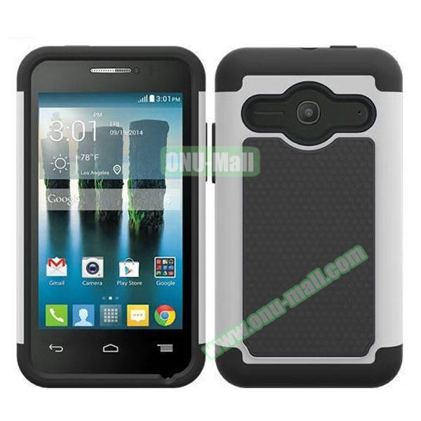 Football Texture Silicone and PC Hybrid Rubber Case for Alcatel One Touch Evolve 2 (White)